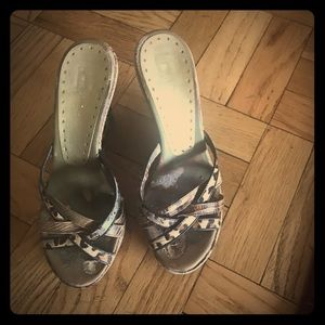 BCBH Animal print wedge slides